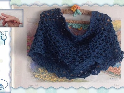 Tutorial Uncinetto ❀ Sciarpa circolare a triangolini ❀ [Circle little triangles Scarf]