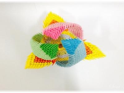 3d origami - vase model 2