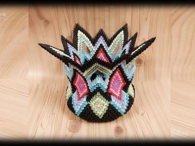 3d origami - vase model 4