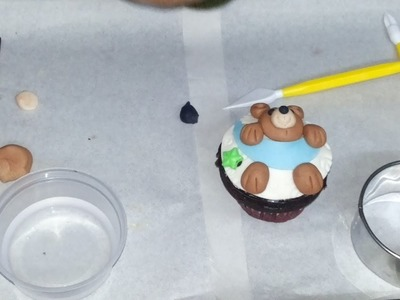 7. How to make Fondant Teddy with moon Cupcake Topper