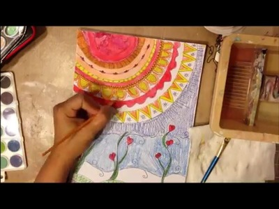 Art Journal Tutorial Doodle and watercolor