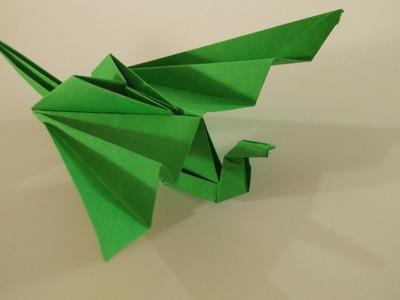 Como hacer un DRAGON de papel que MUEVE las alas || dragon de origami