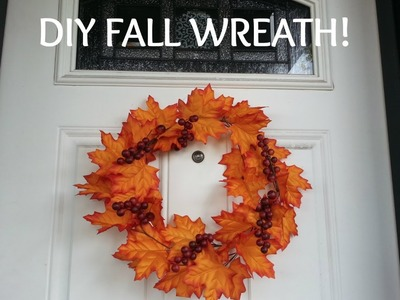 DIY- $4 FALL WREATH!