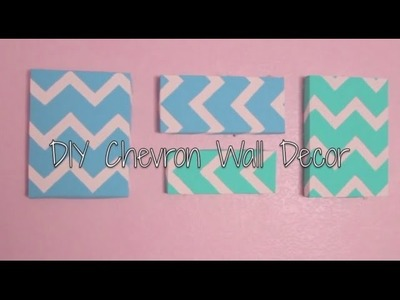 DIY Chevron Wall Decor {easy}