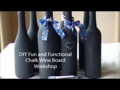 DIY Fun and Functional Chalk Wine Board
