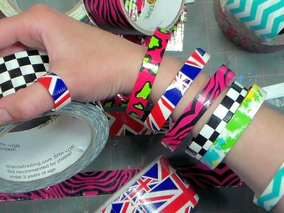 Duct Tape Recycled Box Strapping Bracelets! Groovy!