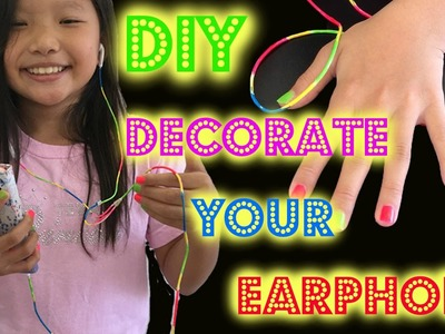 How to Decorate Earphones | Make Your Own Earphone for iPhones & iPads