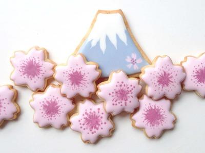 How To Decorate Mount Fuji and Sakura Cookies!