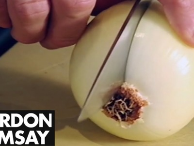 How To Finely Chop An Onion - Gordon Ramsay
