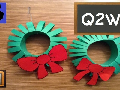 How to Make a Paper Christmas Wreath