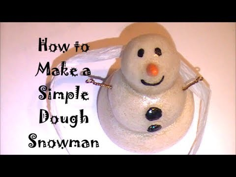How to Make a Simple Dough Clay Snowman