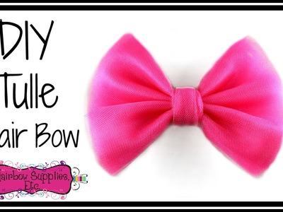 How to Make a Tulle Hair Bow - Hairbow Supplies, Etc.