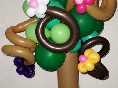 How to Make a Wild Cherry Balloon Tree Centerpiece with Flowers