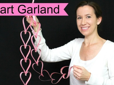 HOW TO MAKE PAPER HEART GARLAND