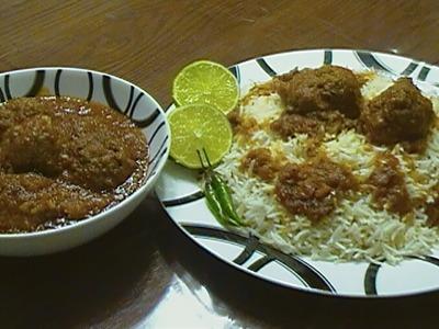 Kofta Challow (Afghan Meatball With Rice)