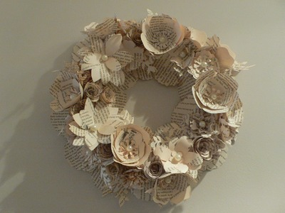 Ophelia Crafts How to make a 3D flower wreath PART 1
