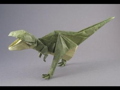 Origami  How to make origami Tyrannosaurus  Paper Tyrannosaurus