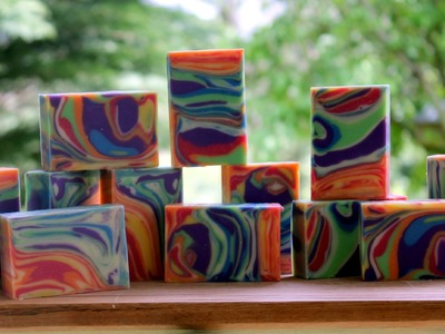 Soap Challenge - Making and Cutting the Spinning Swirl