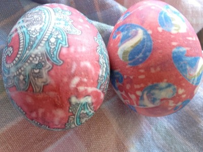 The absolute COOLEST way to Dye Easter Eggs- using neck ties