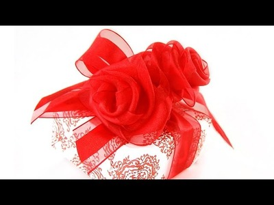 Valentine Ribbon Rose Gift Wrapping