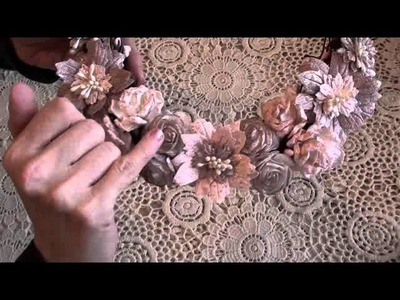 Wild Orchid Crafts - Shabby Pink Wreath
