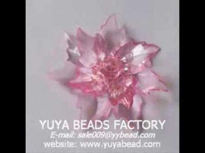Acrylic bead flower bouquet Hair flower