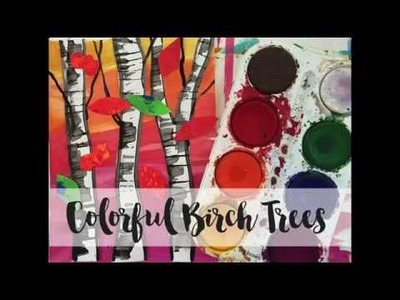 Birch Tree Collage Art Project for Kids