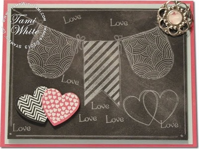 Chalkboard Technique Valentine Card featuring Stampin' Up! products