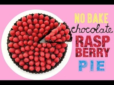 Chocolate Raspberry Oreo Pie Recipe - No Bake Berry Tart | My Cupcake Addiction