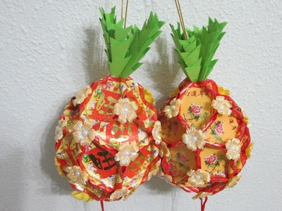 CNY TUTORIAL NO. 13 - How to make a Red Packet (Hongbao) pineapple