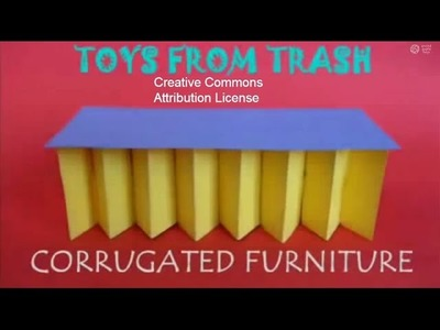 Corrugated Furniture | Bhojpuri | Structures with Cardboard Cartons