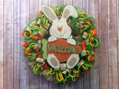 Easy Loopy Loop Wreath Tutorial {ribbon, mesh and tubing}