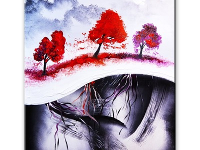 Five Easy Steps to create amazing landscape abstract art painting