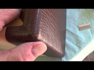 How to Cover a Cabinet with Tolex or Leatherette. . .Part 2