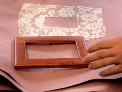How to Decorate Frames With Wallpaper or Fabric : Decorative Fashion