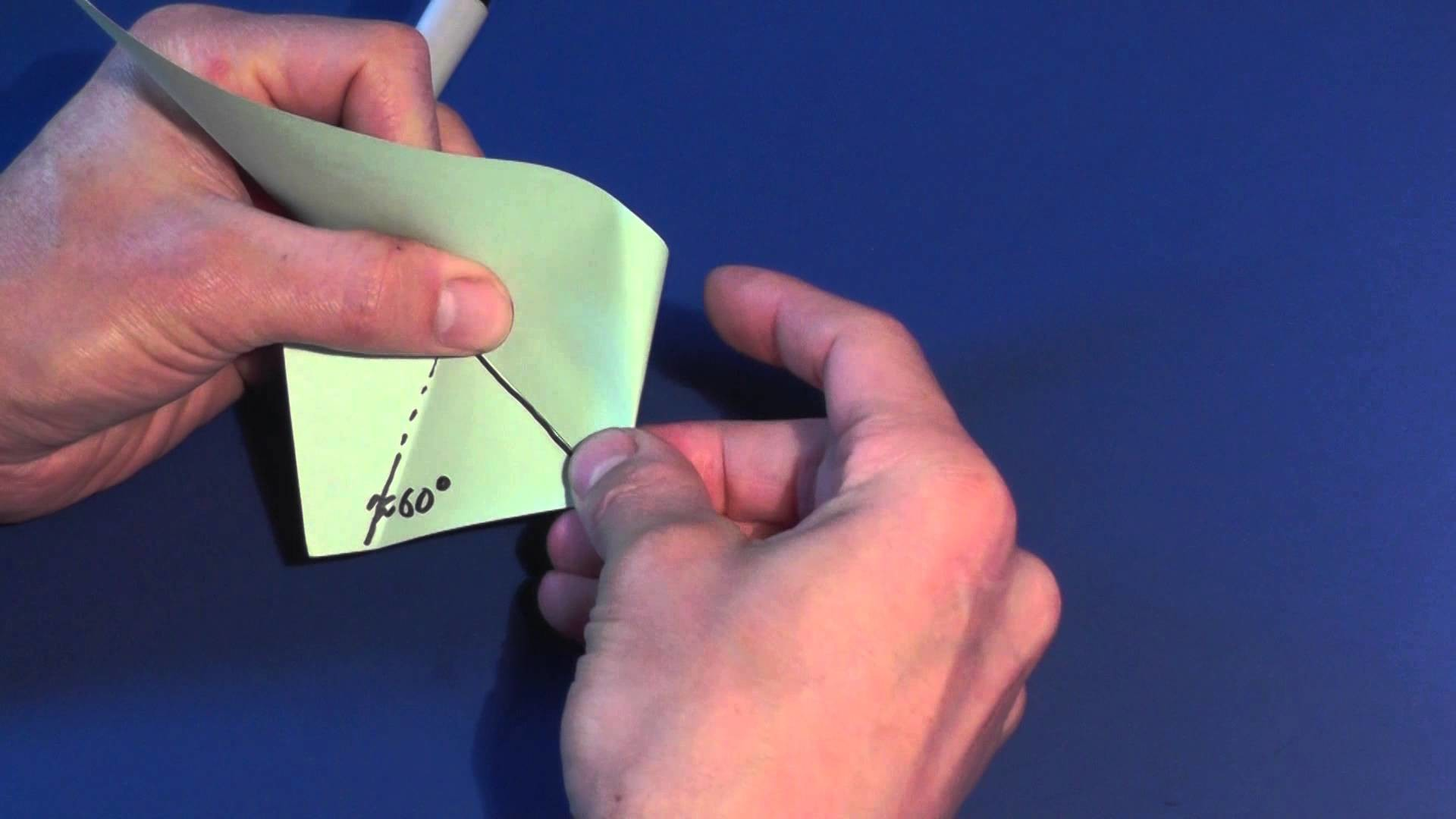 How to Fold a Series of Equilateral Triangles