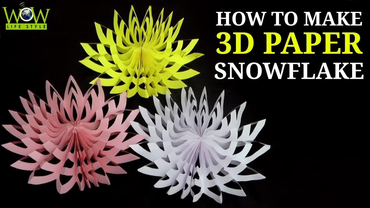 How to Make a 3D Paper Snowflake, Simple Tips, 3d Paper Snowflake