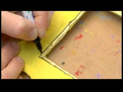 How to Make a Personalized Picture Frame : Edges of Picture Frame