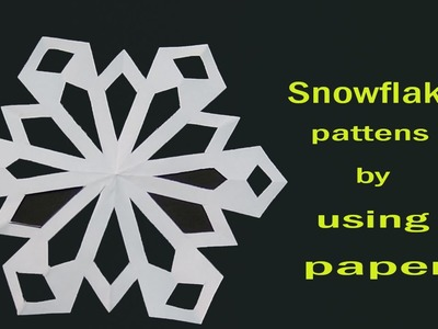 How to make a snowflake designs
