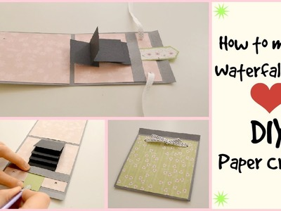 How to make a waterfall card -DIY Paper Crafts  - Scrapbooking Tutorial - Father's Day Gift Idea