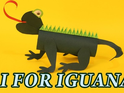 I for Iguana | Alphabet Animal Paper Crafts