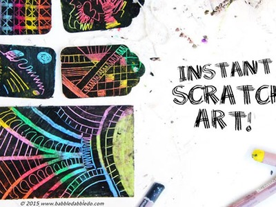 Instant Scratch Art - Easy Oil Pastel Project for Kids & Adults!