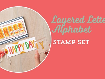 Layered Letters Alphabet Stamp Set by Stampin' Up!