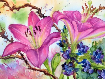 LIVE. Floral Bouquet Painting Tutorial.How To Fix Painting Problems!