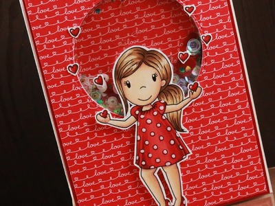 Love Is In The Air - Shaker Card Tutorial