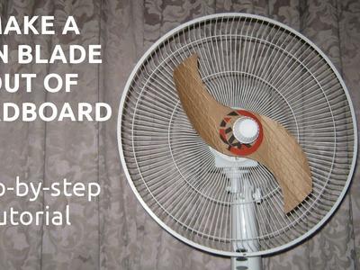 Make a Fan Blade out of Cardboard