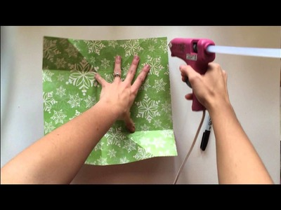 Making a gift bag from a single 12 x 12 piece of paper