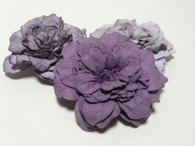 Ophelia Crafts; How to Make Coloured Roses