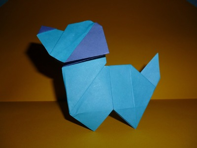 Origami puppy dog Instructions (Edwin Corrie)