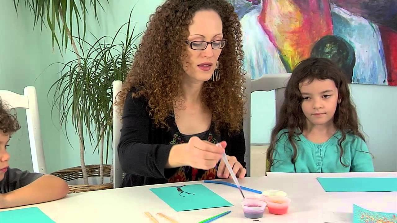 Painting Instruction for Kids: Fall Trees by KellyKits